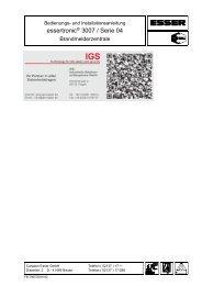 Brandmelderzentrale Essertronic 3007 - IGS-Industrielle ...