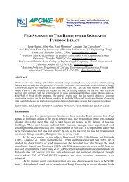 fem analysis of tile roofs under simulated typhoon impact - IAWE ...