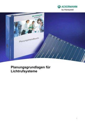 Planungsgrundlagen für Lichtrufsysteme