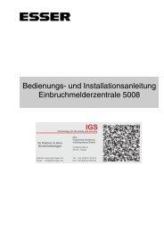 Einbruchmelderzentrale Essertronic 5008 - IGS-Industrielle ...