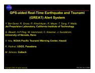 GPS-aided Real-Time Earthquake and Tsunami (GREAT) Alert ... - IGS
