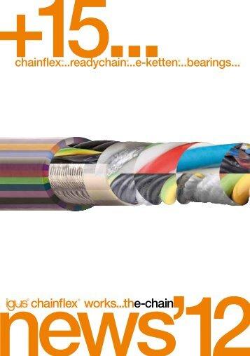 chainflex® Neuheiten und Programmerweiterungen 11/2012 - Igus