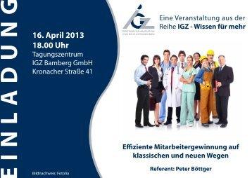 Der demographische Wandel - IGZ Bamberg