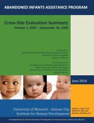 Cross-Site Evaluation Report Summary, Fiscal Year 2008