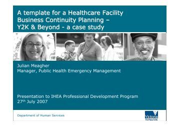 healthcare business continuity plan template
