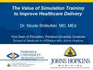 The value of simulation training advancements to improve health ...