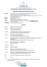 agenda PD1 2013 - Institute of Hospital Engineering, Australia