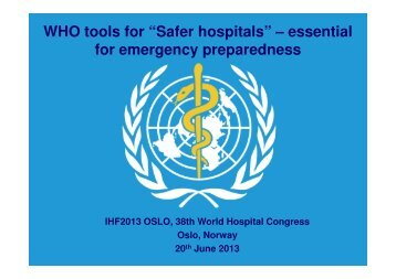 Gerald Rockenschaub - International Hospital Federation