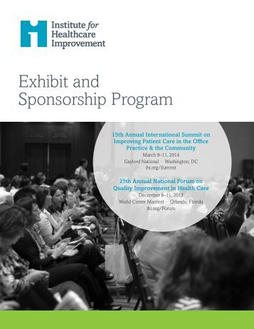 Exhibit and Sponsorship Prospectus here - Institute for Healthcare ...