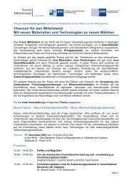 Chancen für den Mittelstand: Mit neuen Materialien ... - IHK Koblenz