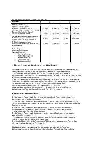 Geprüfter Industriemeister Chemie IHK 24 - IHK Schleswig-Holstein