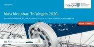 Maschinenbau Thüringen 2020. - Freistaat Thüringen