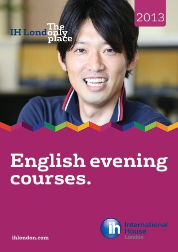 English evening courses brochure 2013 - International House London
