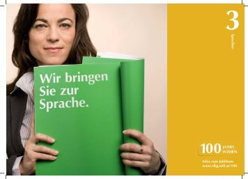 3sprachen Infos zum Jubiläum www.vlbg.wifi.at/100