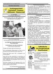 Das aktuelle Mitteilungsblatt - Die nächsten Termine im Überblick