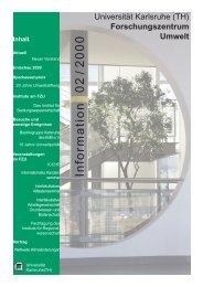 FZU Information 2/2000 - Universität Karlsruhe - Forschungszentrum ...