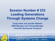 Leading Generations Through Systems Change - IHRIM