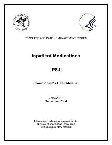 RPMS Inpatient Medications (PSJ) - Indian Health Service