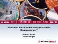 Eurozone - Country & Industry Forecasting: IHS Global Insight