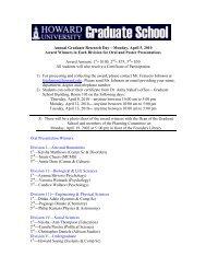 Annual Graduate Research Day—Monday, April 5, 2010 Award ...