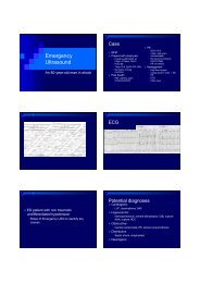 Emergency Ultrasound - Hong Kong College of Emergency Medicine