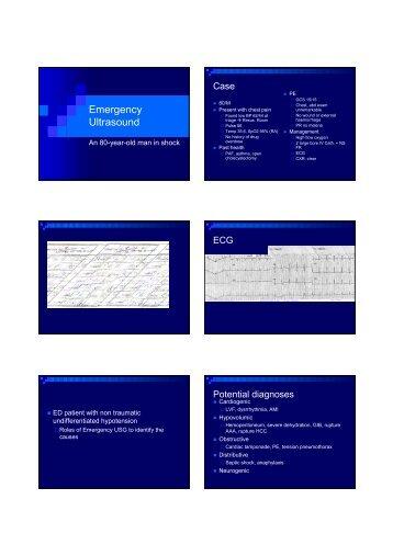 Emergency Ultrasound - Hong Kong College of Emergency Medicine