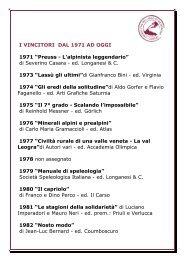 VINCITORI PREMIO ITAS PER SITO - Gruppo ITAS