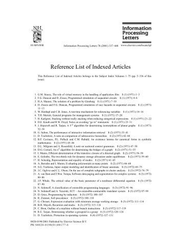 Reference articles