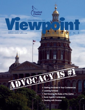 ADVOCACY IS #1 - Independent Insurance Agents of Iowa, Inc.