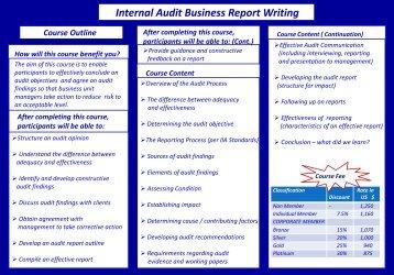Internal Audit Business Report Writing - UAE IAA