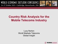 Country Risk Analysis for the Mobile Telecoms ... - IHS Global Insight