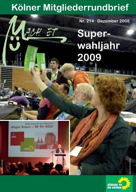 Nr. 214, Dezember 2008 - Bündnis 90/Die Grünen Kreisverband Köln