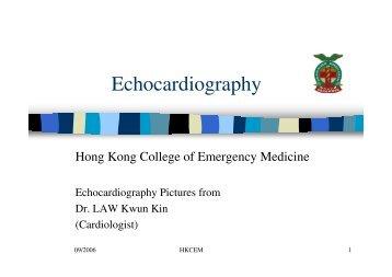 Echocardiography - Hong Kong College of Emergency Medicine