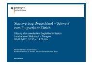 Staatsvertrag Deutschland – Schweiz zum Flugverkehr Zürich