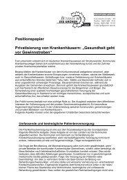 """Positionspapier Privatisierung von Krankenhäusern: """"Gesundheit ..."""