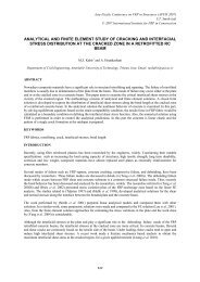 analytical and finite element study of cracking and interfacial stress ...