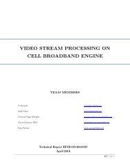video stream processing on cell broadband engine - International ...