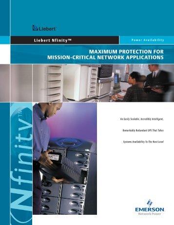 Liebert Nfinity Brochure - Emerson Network Power