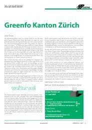weiter so! Nr. 2/ Mai 2007 Greenfo Kanton Zürich - Grüne Kanton ...