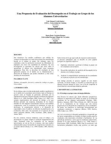 Una Propuesta de Evaluación del Desempeño en el Trabajo en ...