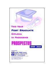 PROSPECTUS - Indian Institute of Packaging