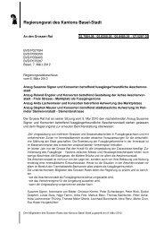 05.8350.05, Schreiben des RR - Grosser Rat - Basel-Stadt