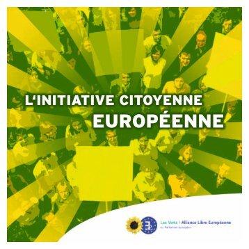 brochure sur l'Initiative Citoyenne Européenne
