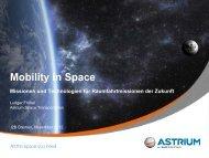 """Vortrag """"Mobility in Space – Missionen und Technologien für ... - i2b"""