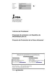 Para aprobación Informe del Presidente Propuesta de ... - IFAD