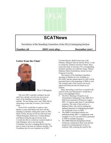 IFLA Cataloguing Section Newsletter December 2007
