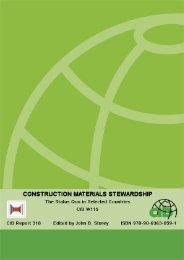 W115: Construction Materials Stewardship - Test Input