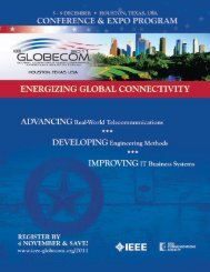 tutorials - IEEE GLOBECOM 2013