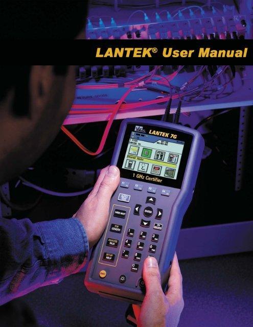 LANTEK User Manual - Ideal Industries