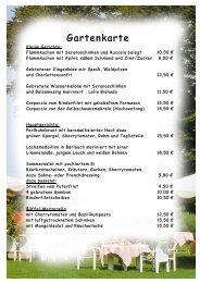 Gartenkarte . - Romantik Hotel Gravenberg
